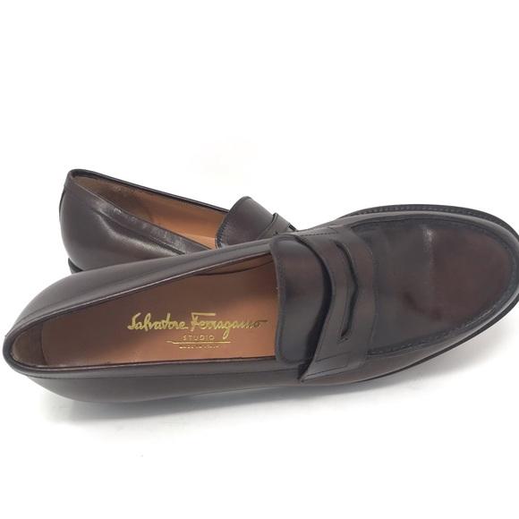 Salvatore Ferragamo Studio Slip On Penny Loafers